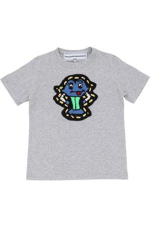 MICHAELA BUERGER | Niño Camiseta De Algodón Jersey Con Parche De Punto 3/4a