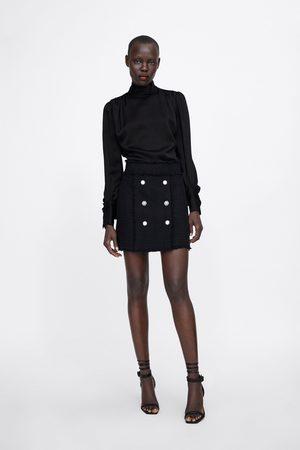 Zara Falda mini botones joya