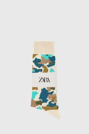 Zara Hombre Calcetines - Calcetín mercerizado jacquard camuflaje