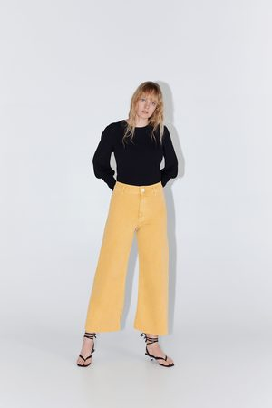 Zara Mujer Cintura alta - Jeans zw premium marine straight