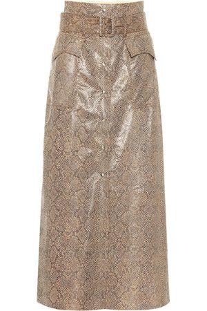 Nanushka De cuero - Falda Aarohi de piel sintética