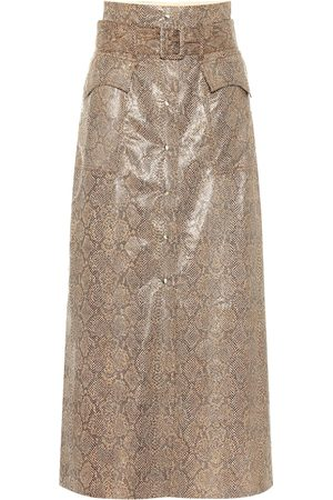 Nanushka Mujer Largas - Falda Aarohi de piel sintética