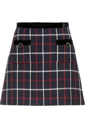 Miu Miu Minifalda de cuadros