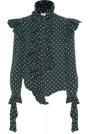 Vetements Camisa de crepé de lunares
