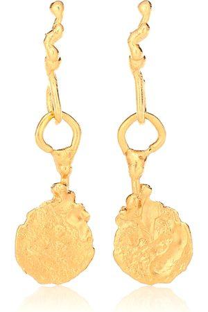Alighieri Aretes Talisman con baño en oro de 24 ct