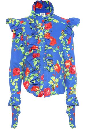 Vetements Camisa de crepé floral
