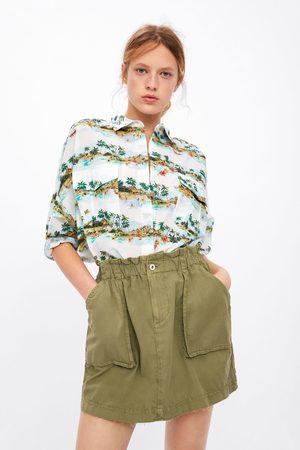 Zara Falda mini bolsillos