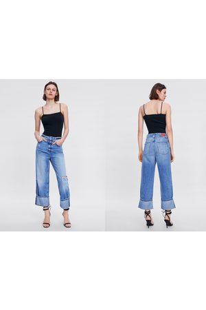 Rotos Pantalones Y Leggings De Mujer Color Azul Fashiola Es