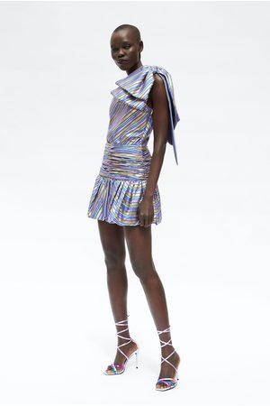 Zara Mujer Minifaldas - Falda mini rayas
