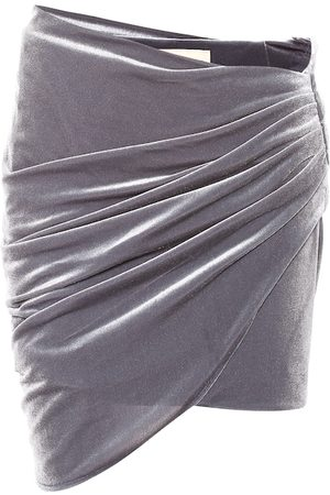 ALEXANDRE VAUTHIER Minifalda de terciopelo