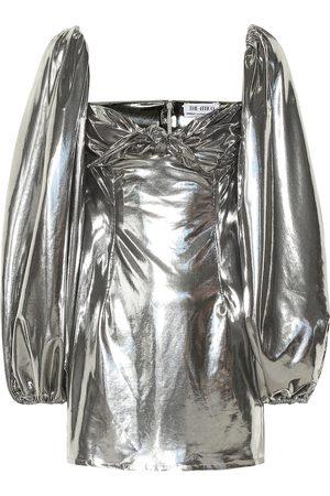 The Attico Vestido corto metalizado