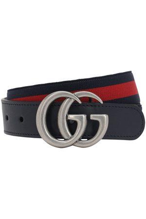 Gucci   Niña Cinturón Elástico Con Piel /rojo M