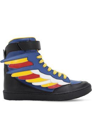 Stella McCartney Sneakers Altas De Piel Sintética Con Alas