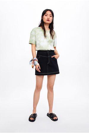 Zara Falda mini costuras
