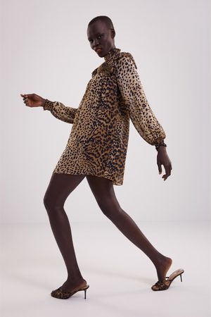 Zara Vestido estampado animal