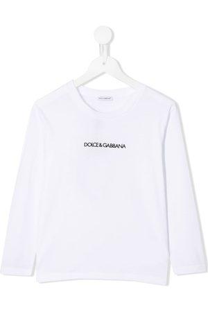 Dolce & Gabbana Top con logo estampado de manga larga