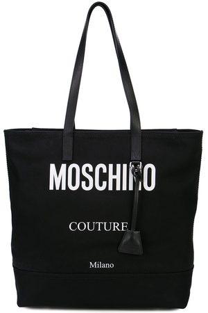 Moschino Bolso shopper con logo en contraste