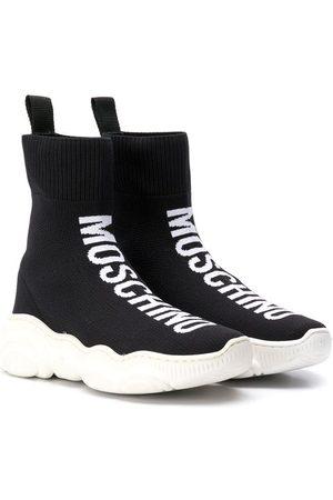 Moschino Niña Zapatillas deportivas - Zapatillas altas con logo en intarsia