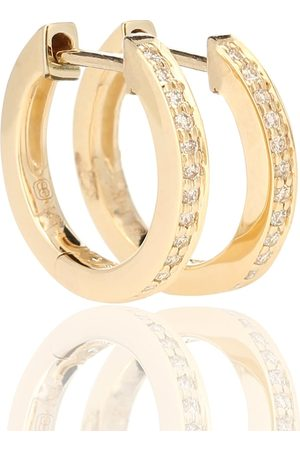 Sydney Evan Aretes Huggie de oro de 14 ct y diamantes