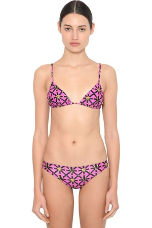 VERSACE Mujer Bikinis - Bikini Triangular De Lycra Estampado