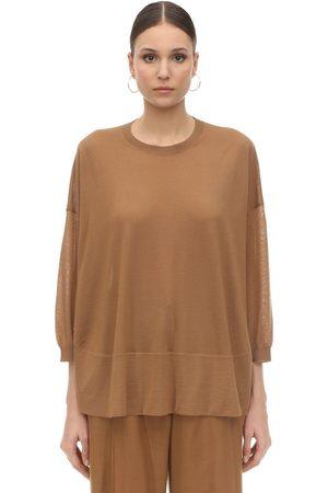 Agnona Suéter De Punto De Cashmere Con Cuello Alto