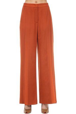 Agnona Pantalones De Lana Y Cashmere