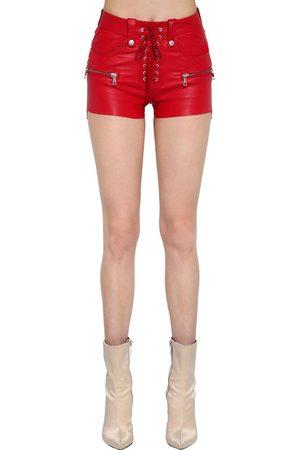 UNRAVEL Shorts De Piel Stretch Con Cordones