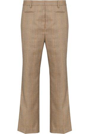R13 Pantalones capri a cuadros