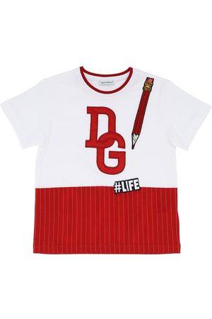 Dolce & Gabbana | Niño Camiseta De Algodón Jersey Estampada 8a