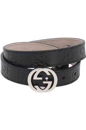 Gucci   Niña Cinturón De Piel Con Logo Grabado M