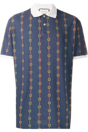 Gucci Polo oversize con estampado de cadenas