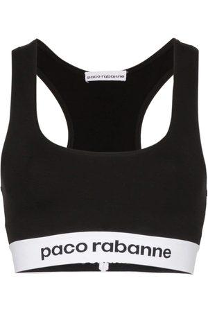 Paco rabanne Sujetador deportivo con banda del logo