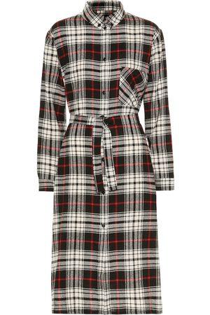 Woolrich Vestido camisero en mezcla de lana