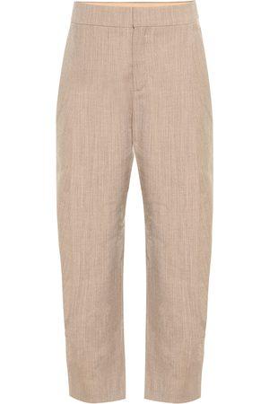 Chloé Pantalones de lana cropped