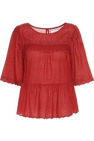 Velvet Camisa Raina de algodón