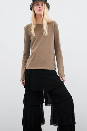 Zara Camiseta managa larga