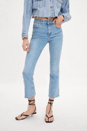 Zara Jeans mid rise cropped flare