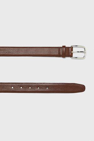 Zara Hombre Cinturones - Cinturón piel