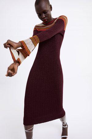Zara Vestido largo brillos