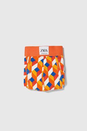 Zara Bóxer estampación geométrica