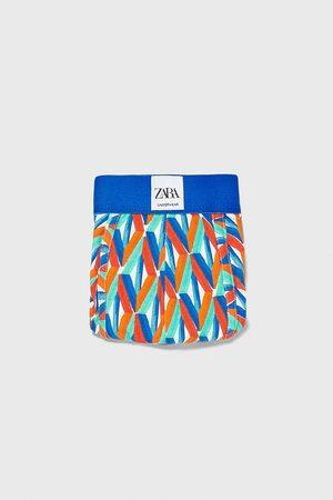 Zara Hombre Calzoncillos y Boxers - Bóxer estampación geométrica