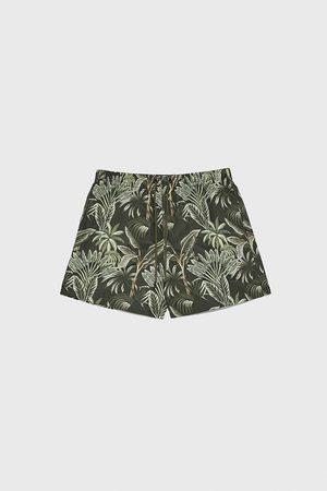 Zara Hombre Shorts de baño - Bañador estampado palmeras