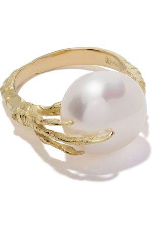 WOUTERS & HENDRIX Anillo de oro de 18kt con perla y diseño de garra