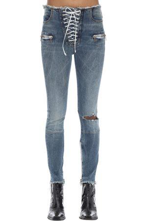 UNRAVEL   Mujer Pantalones De Denim De Algodón Que Se Anudan 24
