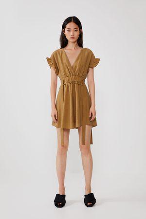 Zara Mujer Vestidos - Vestido lazos