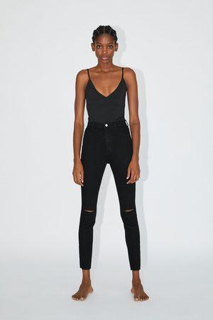 Zara Jegging hi rise super elastic rotos
