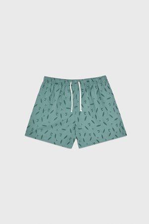 Zara Hombre Shorts de baño - Bañador estampado tablas
