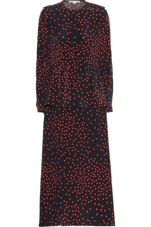 Stella McCartney Vestido largo de crepé de seda