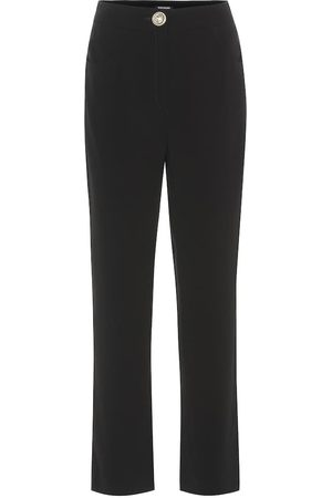 Balmain Pantalones rectos de crepé