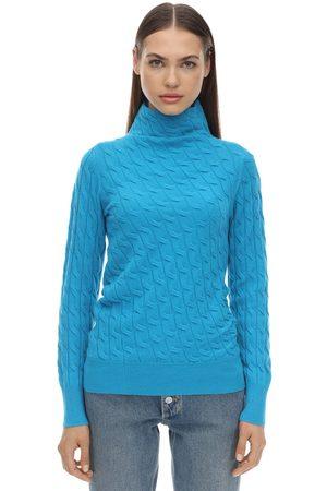 Sportmax Mujer Cuello alto - Miele Cashmere Knit Sweater